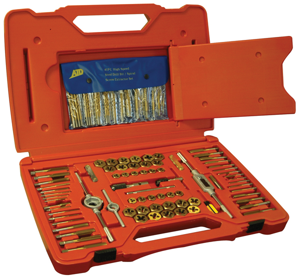 atd277 117 pc tap and die set with drill bits