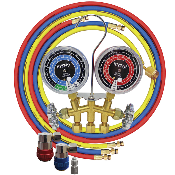 Deluxe Dual  R134a//R12  Aluminum A//C  Manifold Gauge Set ATD-3696 Brand New!