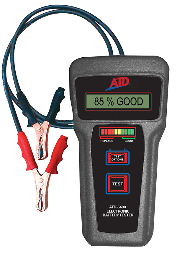 Electronic Battery Tester : Atd v electronic battery tester tools inc