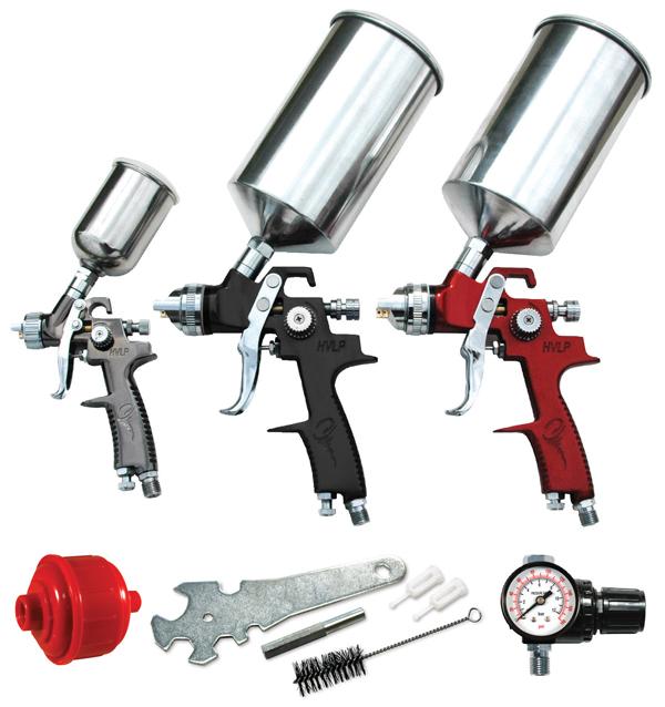 Brand New ATD 1.4mm HVLP Top Coat Spray Gun 1L Cup Fully Adjustable Fan Pattern