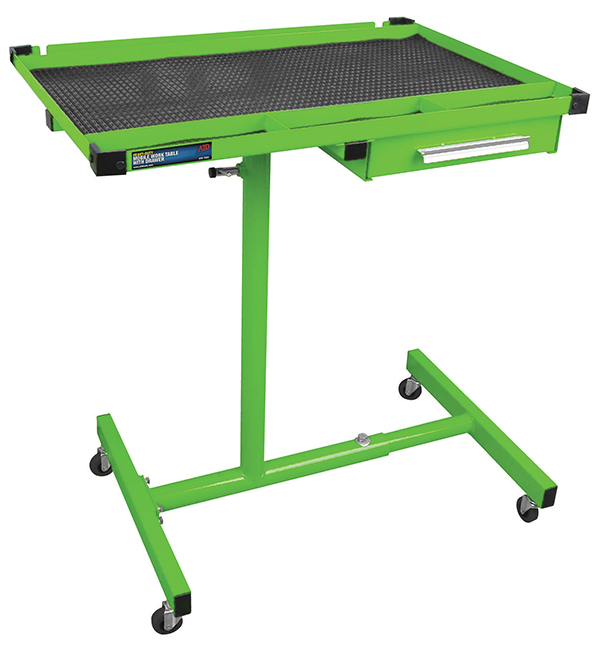ATD Tools 7017 Heavy-Duty Plastic 3-Shelf Utility Cart