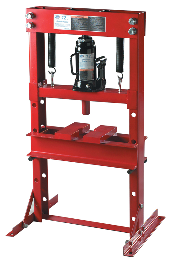 Atd 7452 12 Ton Hydraulic Bench Press With Bottle Jack