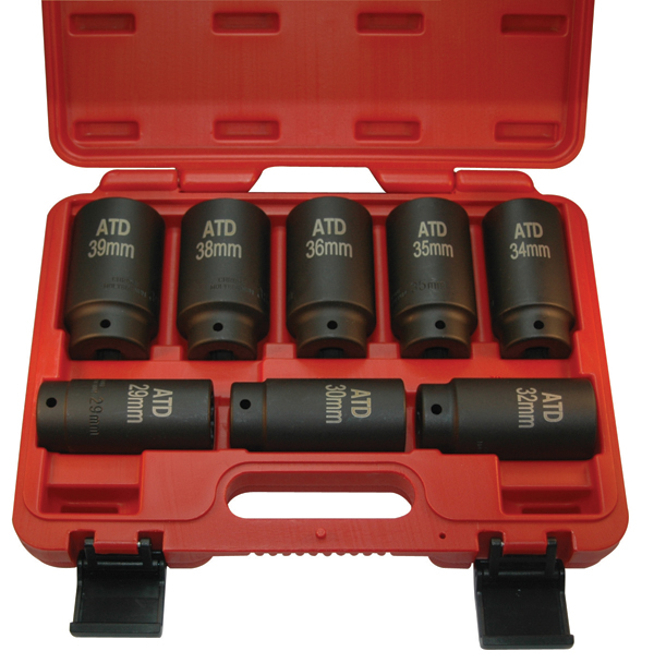 ATD-8628 - 8 Pc. Axle/Spindle Nut Socket Set - 12 Point ...
